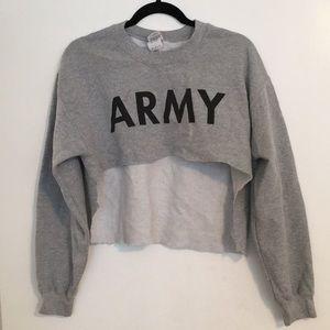 Crop sweat shirt